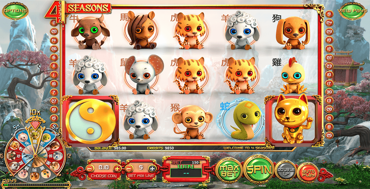 4 seasons betsoft slot machine