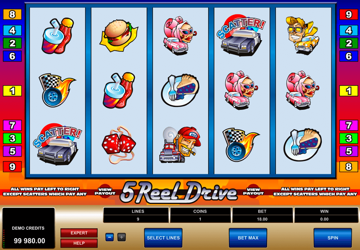 reel drive microgaming slot machine