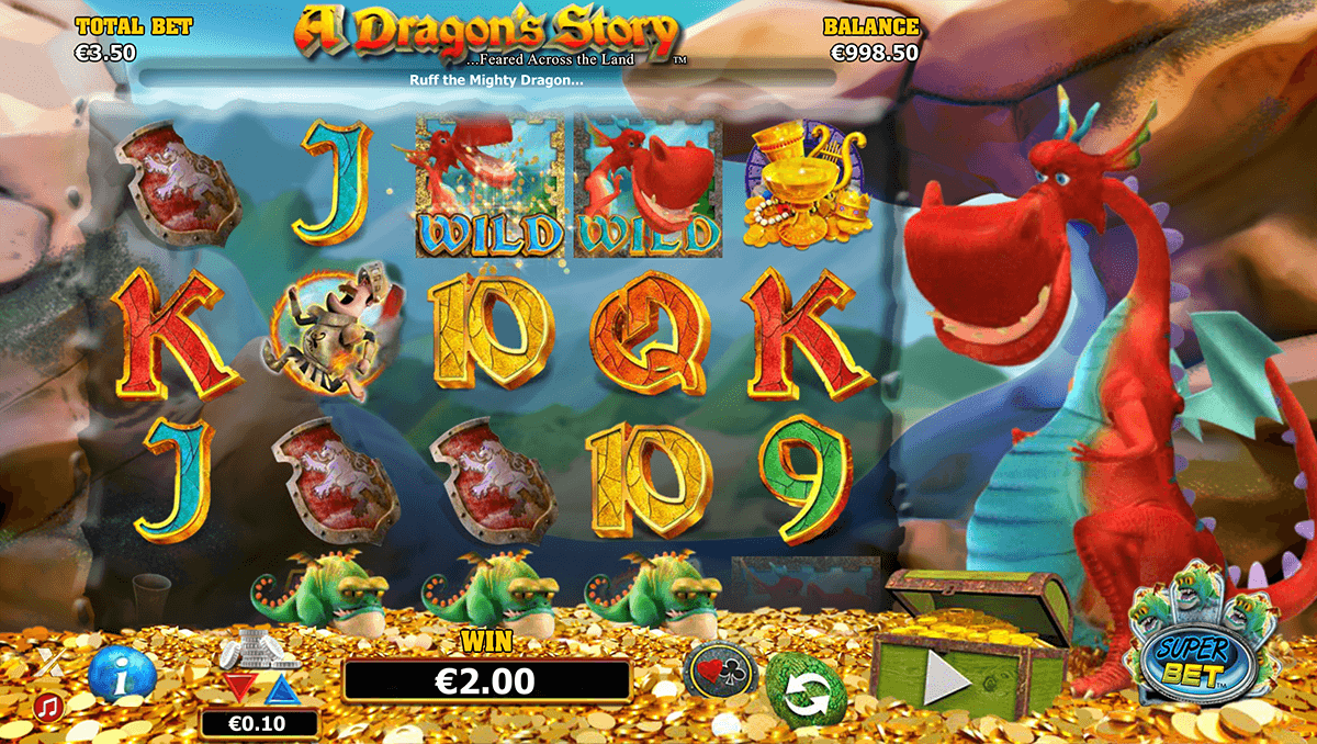 a dragons story netgen gaming slot machine