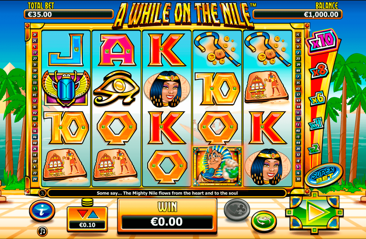 a while on the nile nextgen gaming slot machine