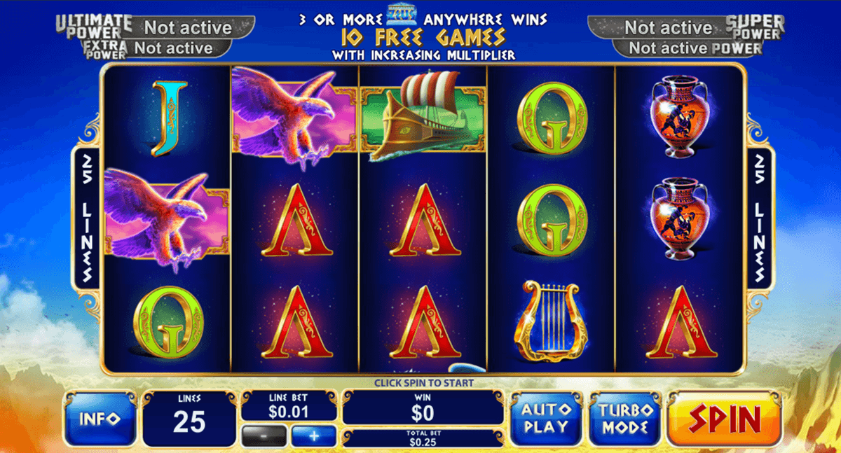 age of the gods king of olympus playtech slot machine
