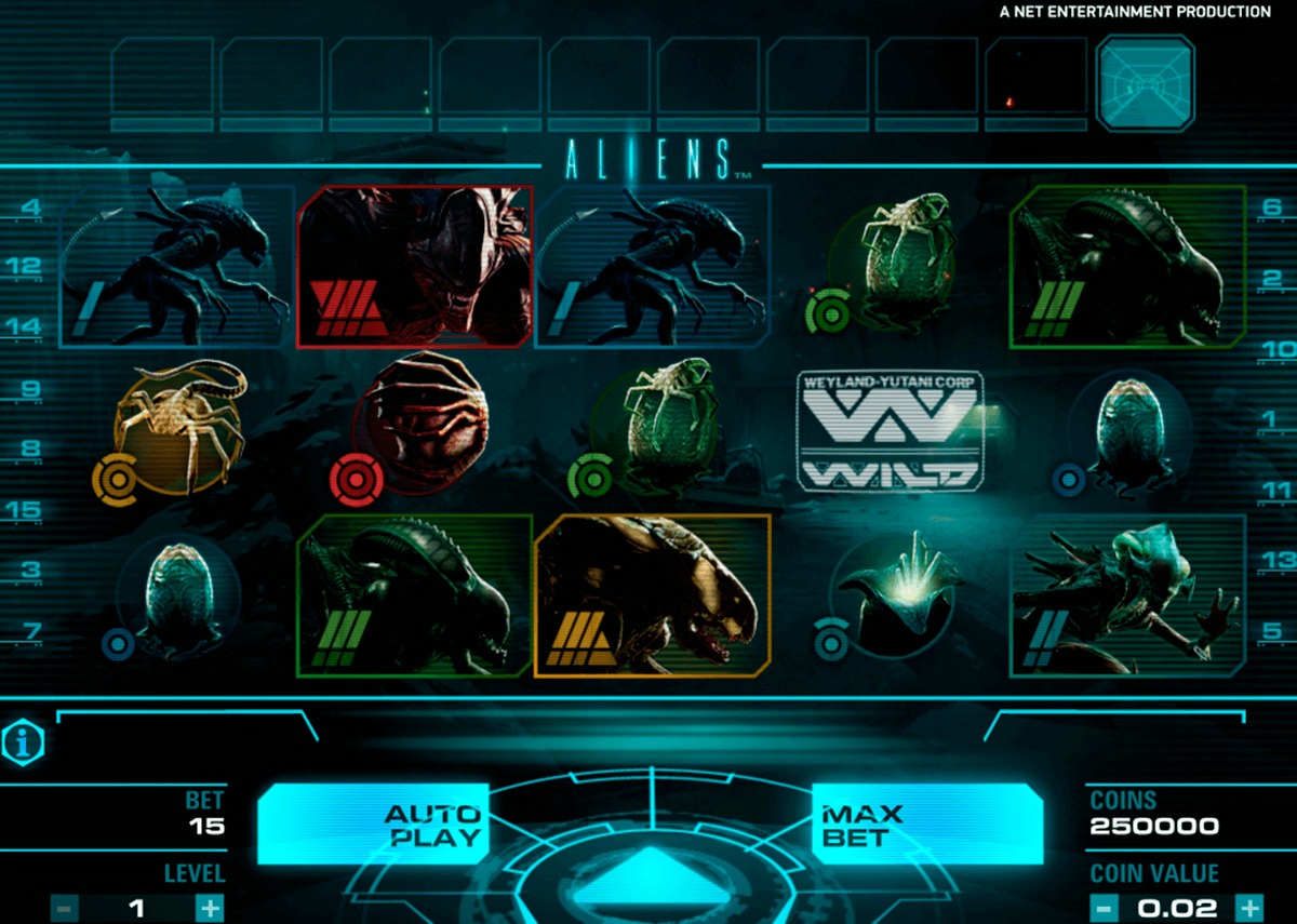 aliens netent slot machine