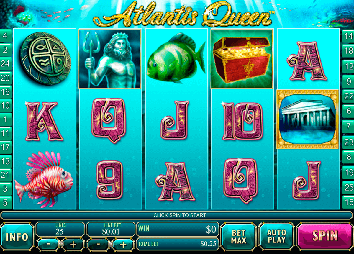 atlantis queen playtech slot machine
