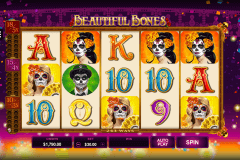 beautiful bones microgaming slot machine