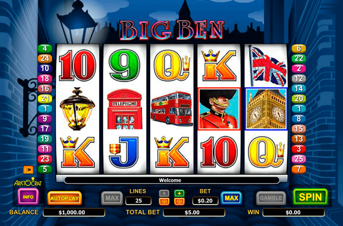 big ben aristocrat slot machine