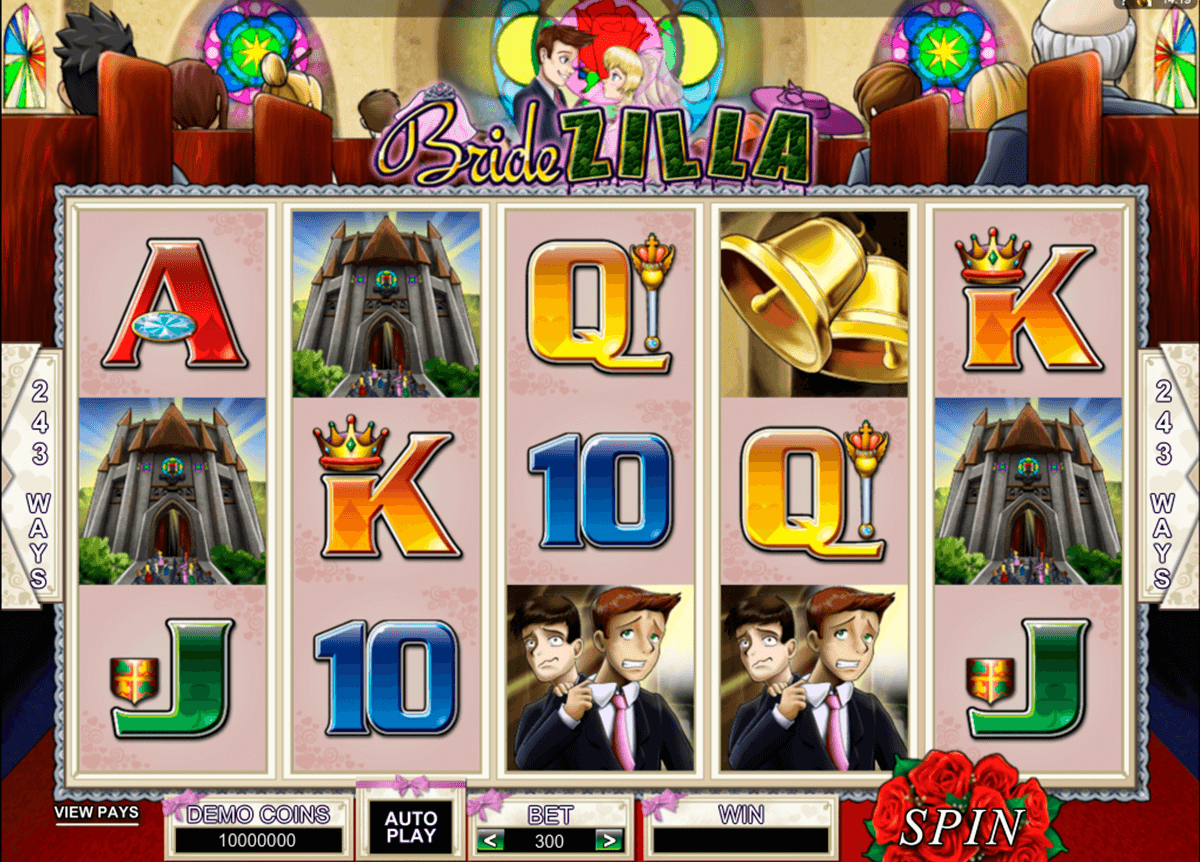 bridezilla microgaming slot machine
