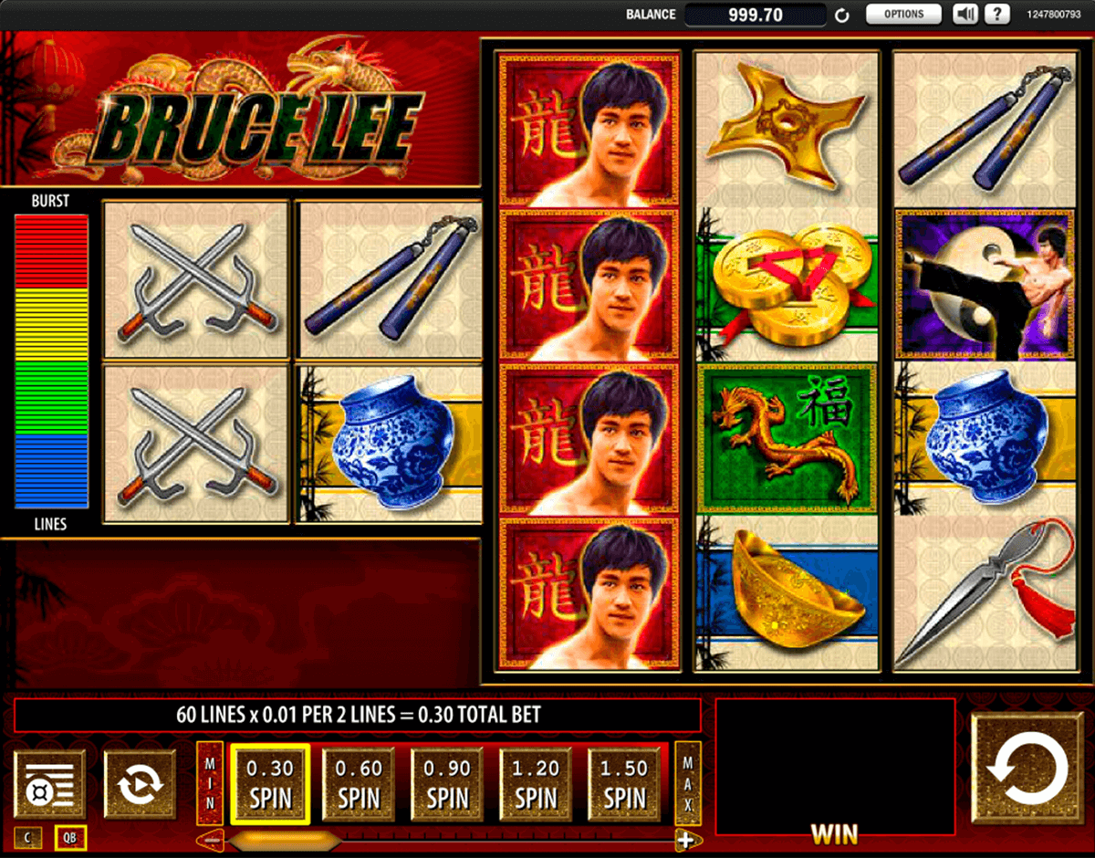bruce lee wms slot machine