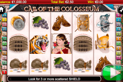 call of the colosseum netgen gaming slot machine