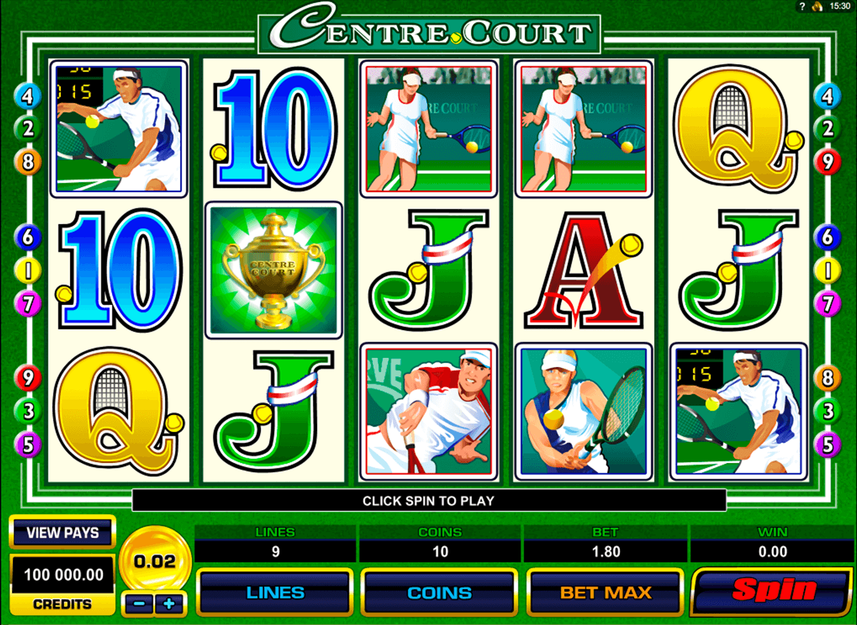 centre court microgaming slot machine