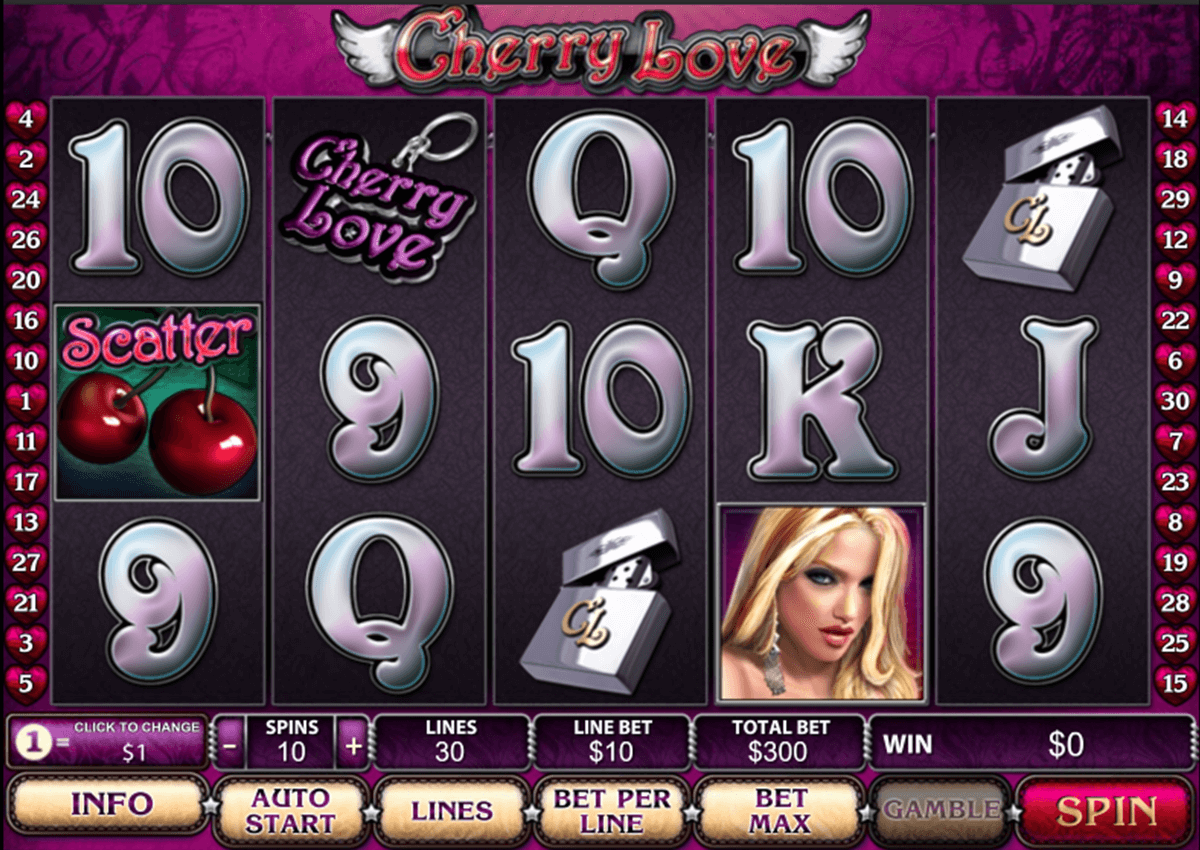 cherry love playtech slot machine