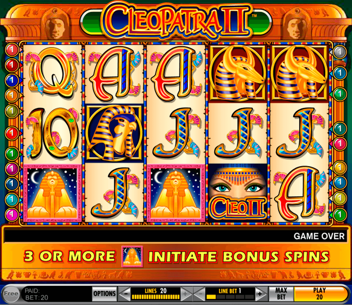 Cleopatra Ii Slot Machine