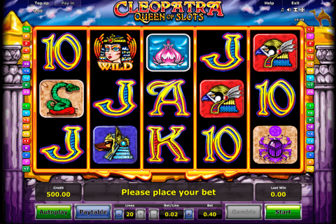 cleopatra novomatic slot machine