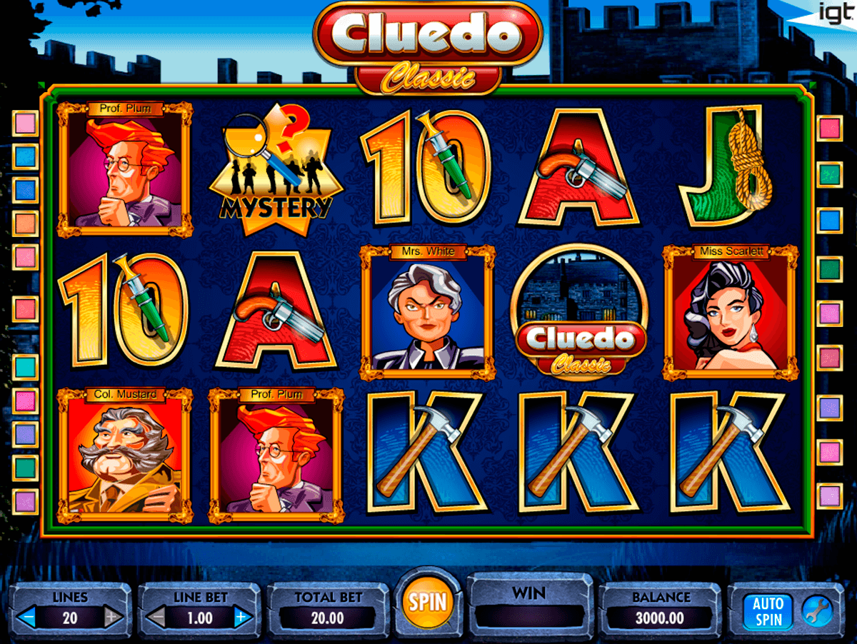 cluedo igt slot machine