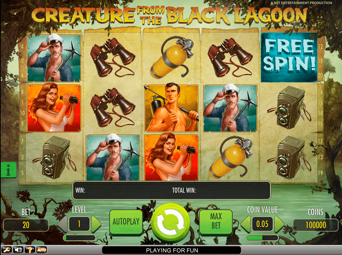 creature from the black lagoon netent slot machine