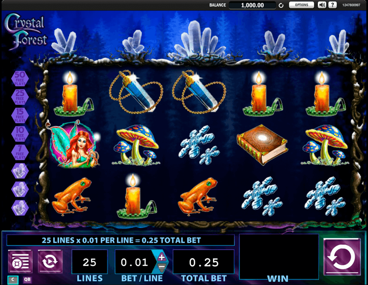 crystal forest wms slot machine