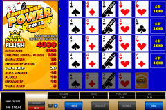 deuces wild  play power poker microgaming online poker
