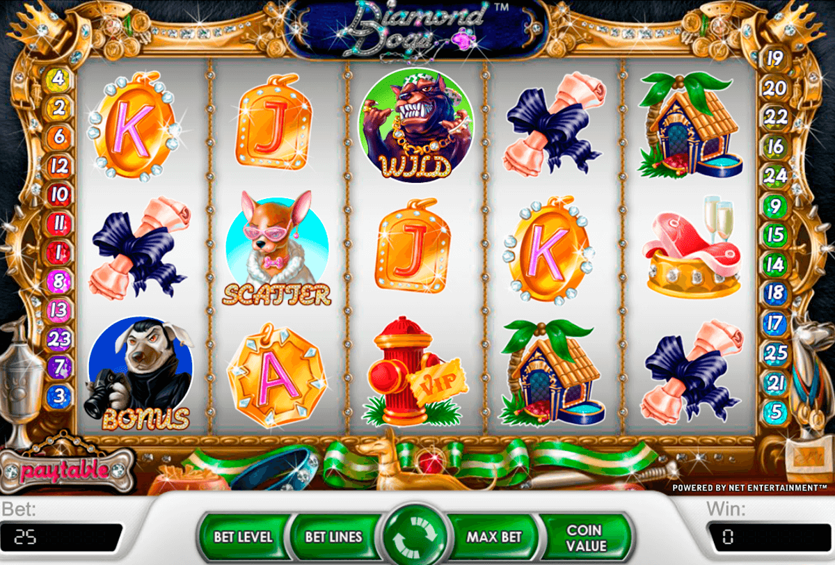 diamond dogs netent slot machine