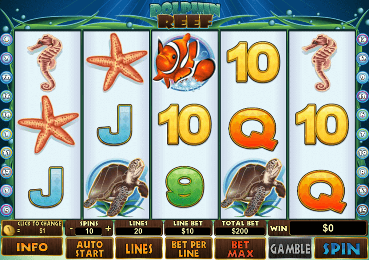 dolphin reef playtech slot machine