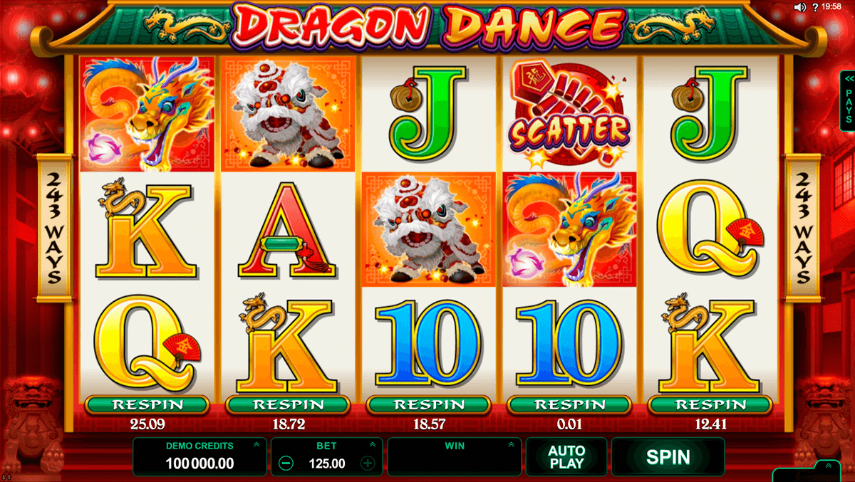 dragon dance microgaming slot machine
