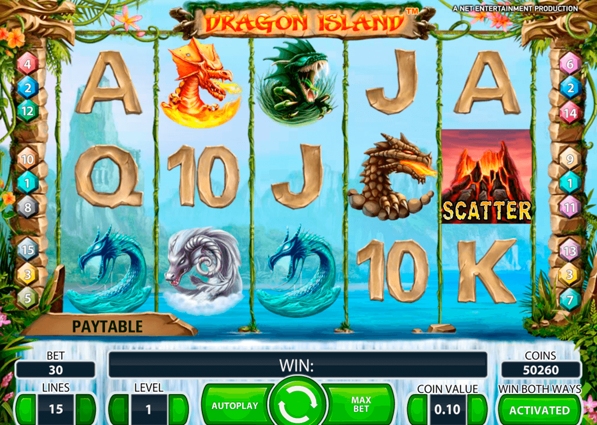 dragon island netent slot machine