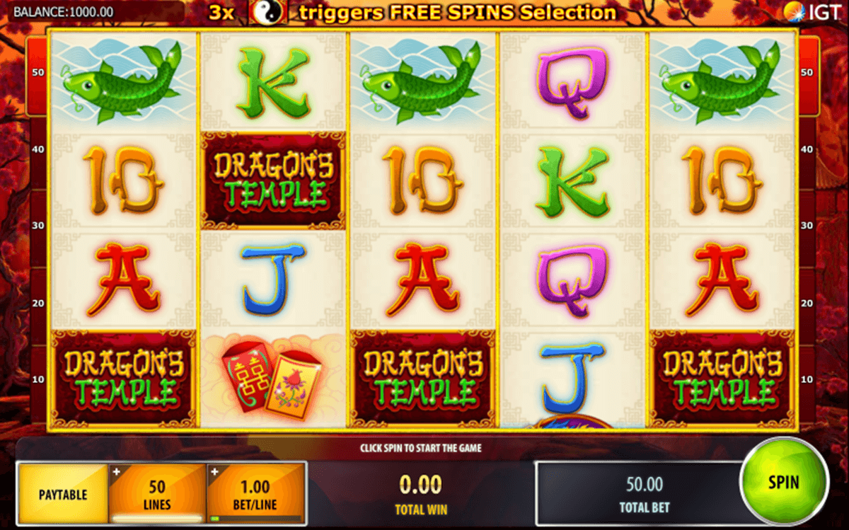 dragons temple igt slot machine