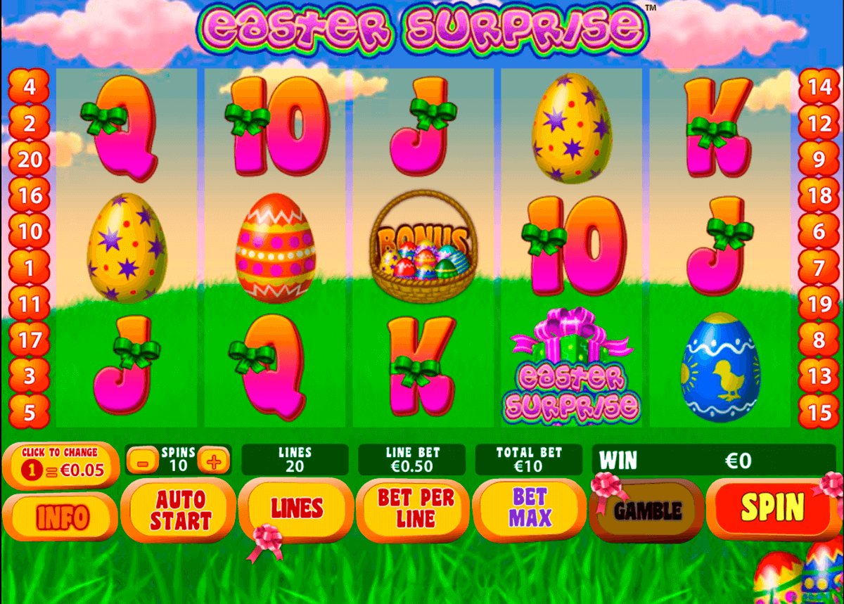 easter surprise playtech slot machine