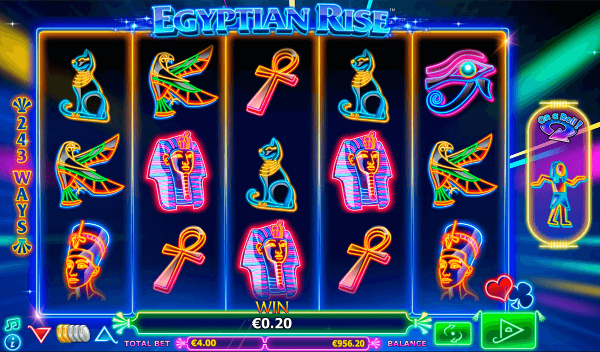 egyptian rise netgen gaming slot machine