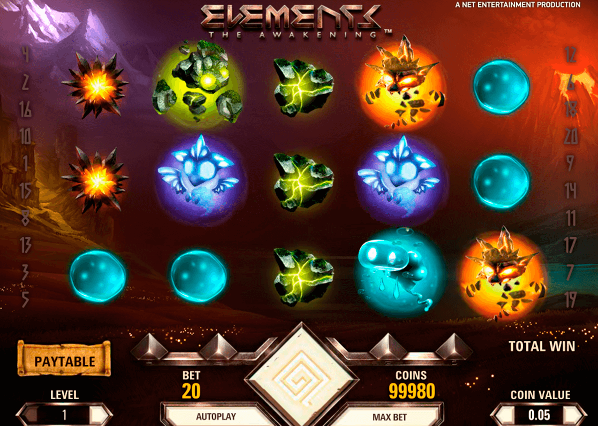 elements netent slot machine