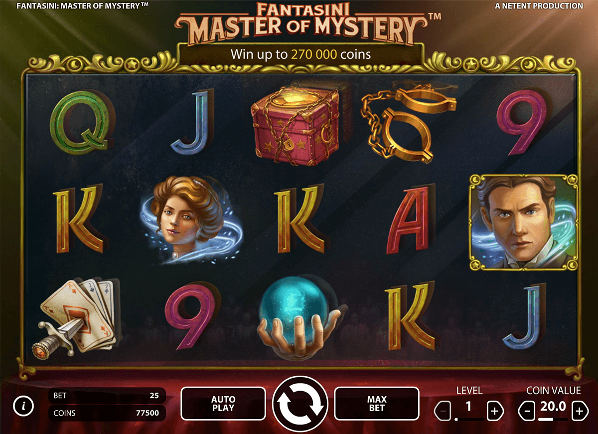 fantasini master of mystery netent slot machine