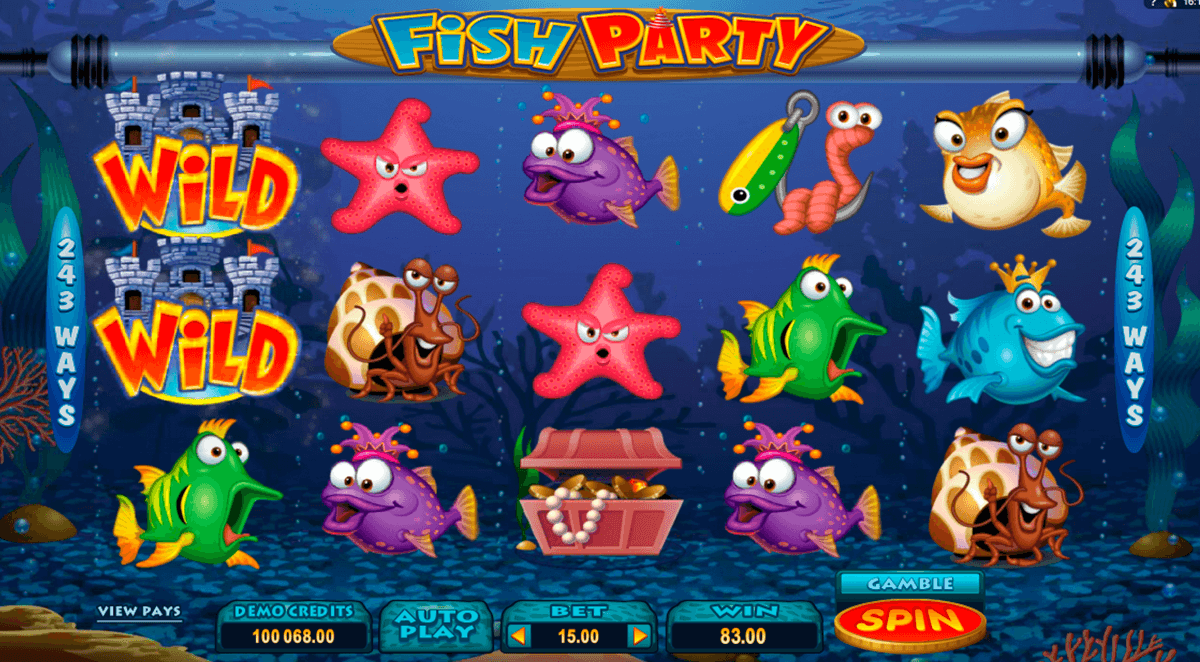 fish party microgaming slot machine
