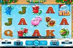 flowers christmas edition netent slot machine