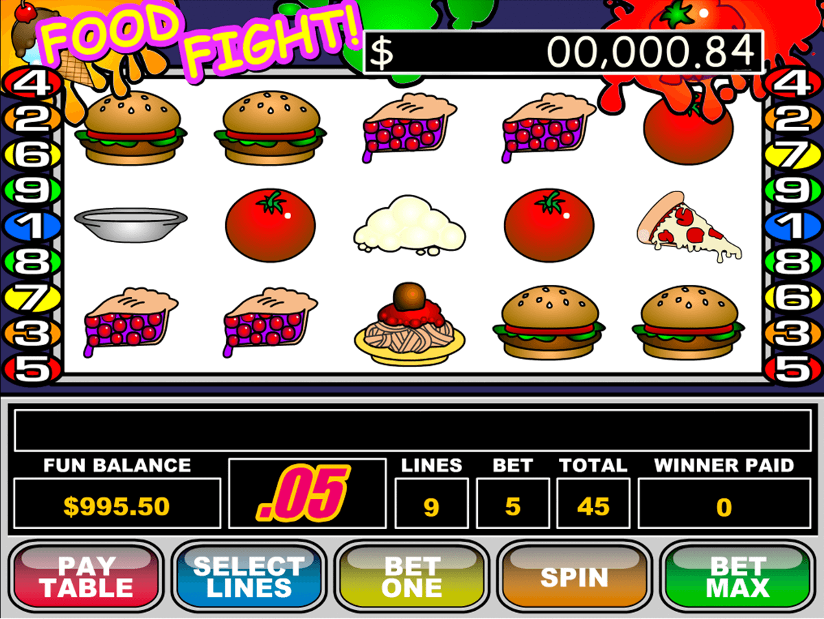 food fight rtg slot machine