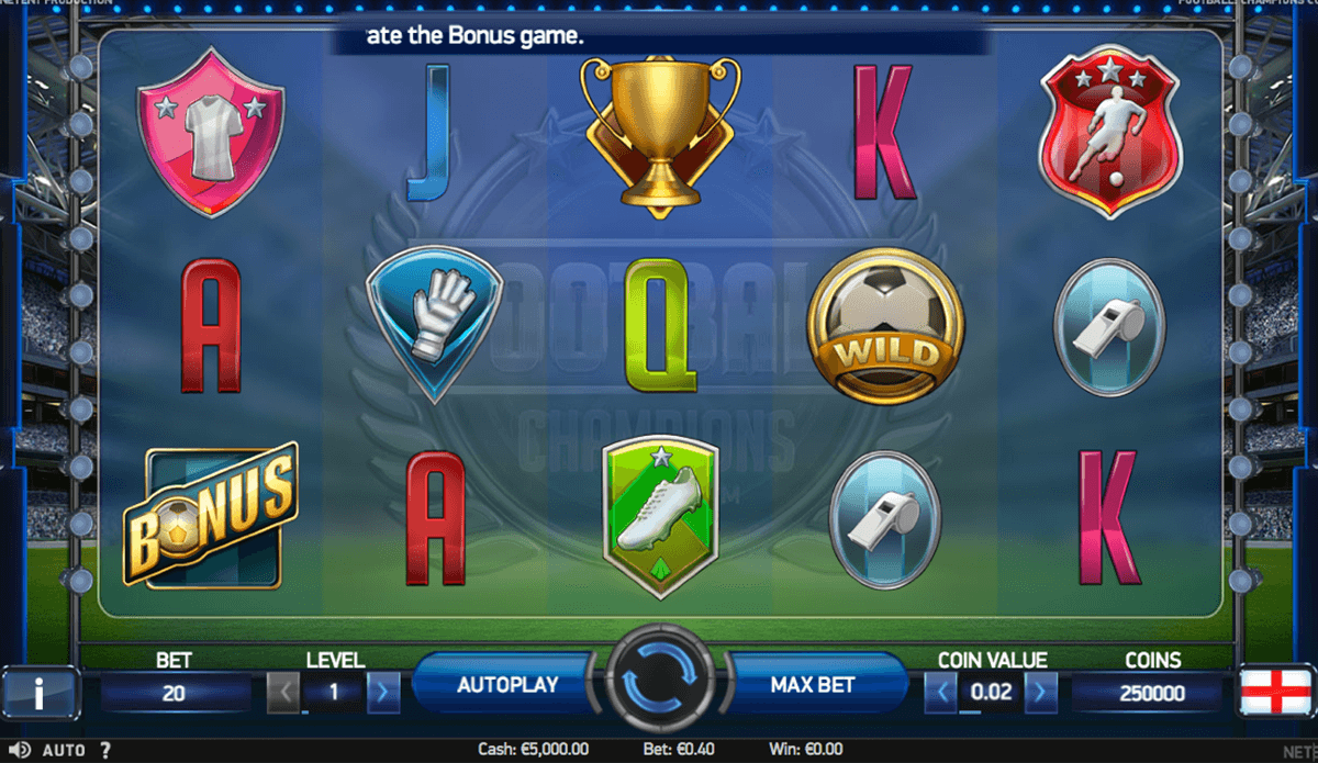 football champions cup netent slot machine