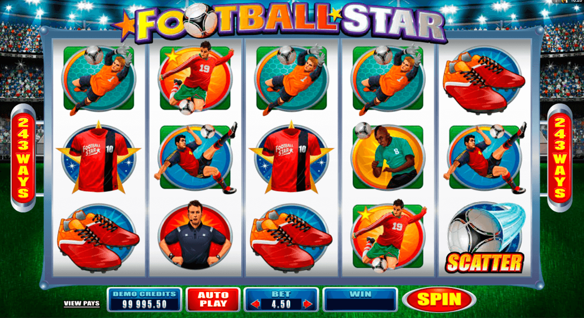 football star microgaming slot machine