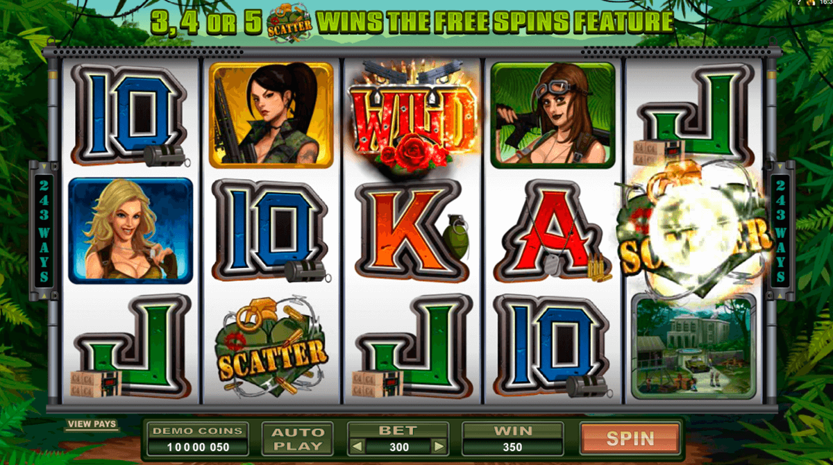 girls with guns jungle heat microgaming slot machine