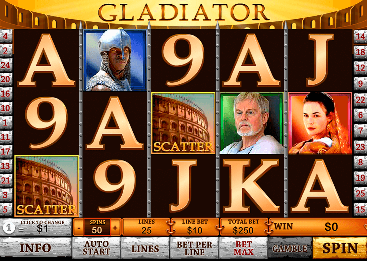 gladiator playtech slot machine
