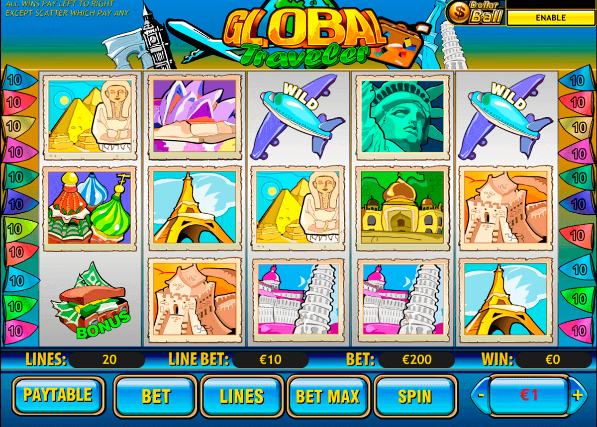 global traveler playtech slot machine
