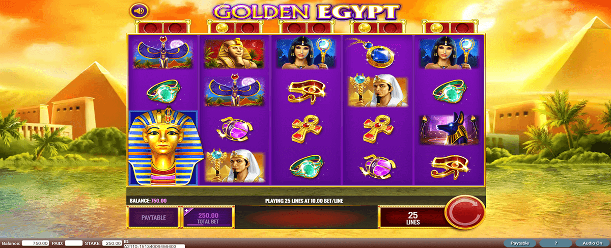 golden egypt igt slot machine
