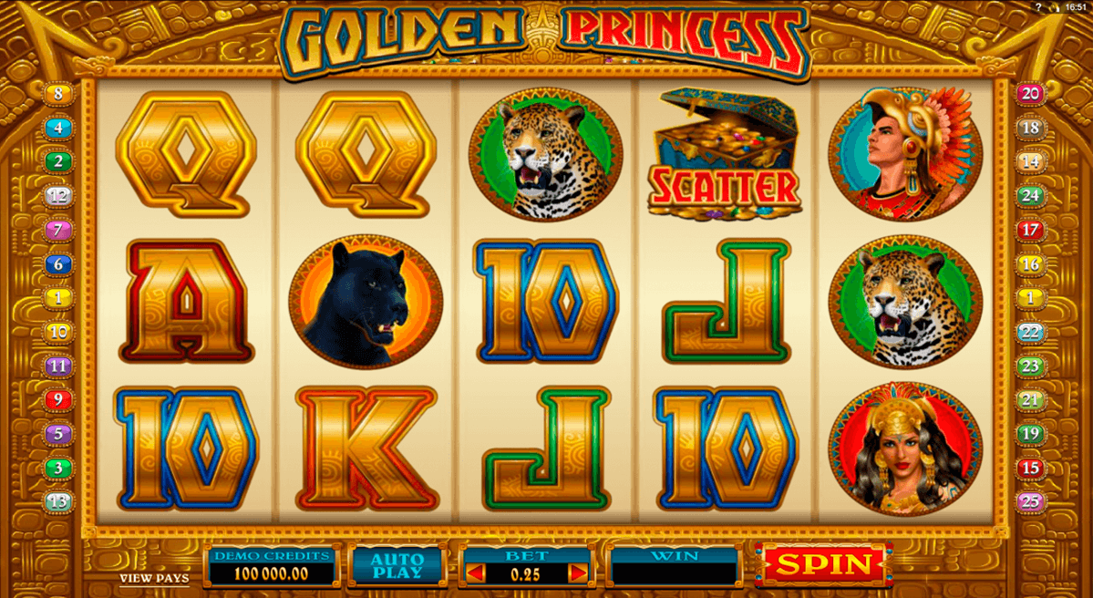 Golden Princess Slot Machine