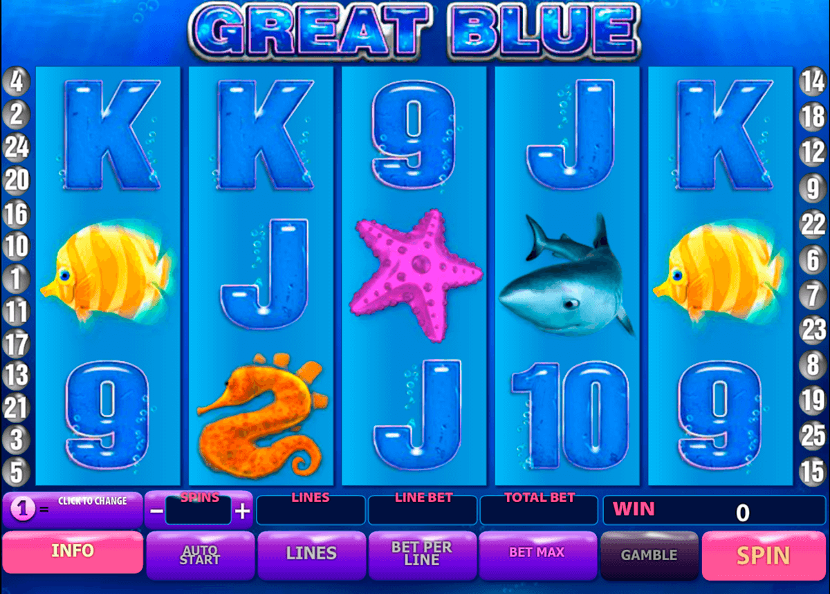 great blue playtech slot machine