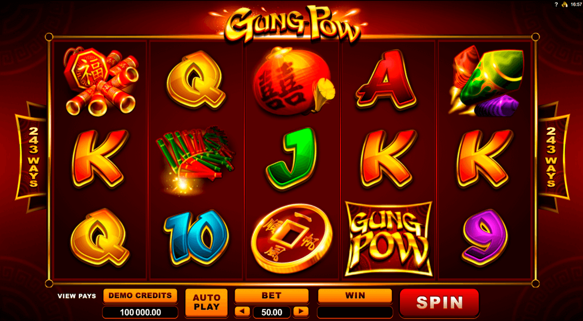 gung pow microgaming slot machine