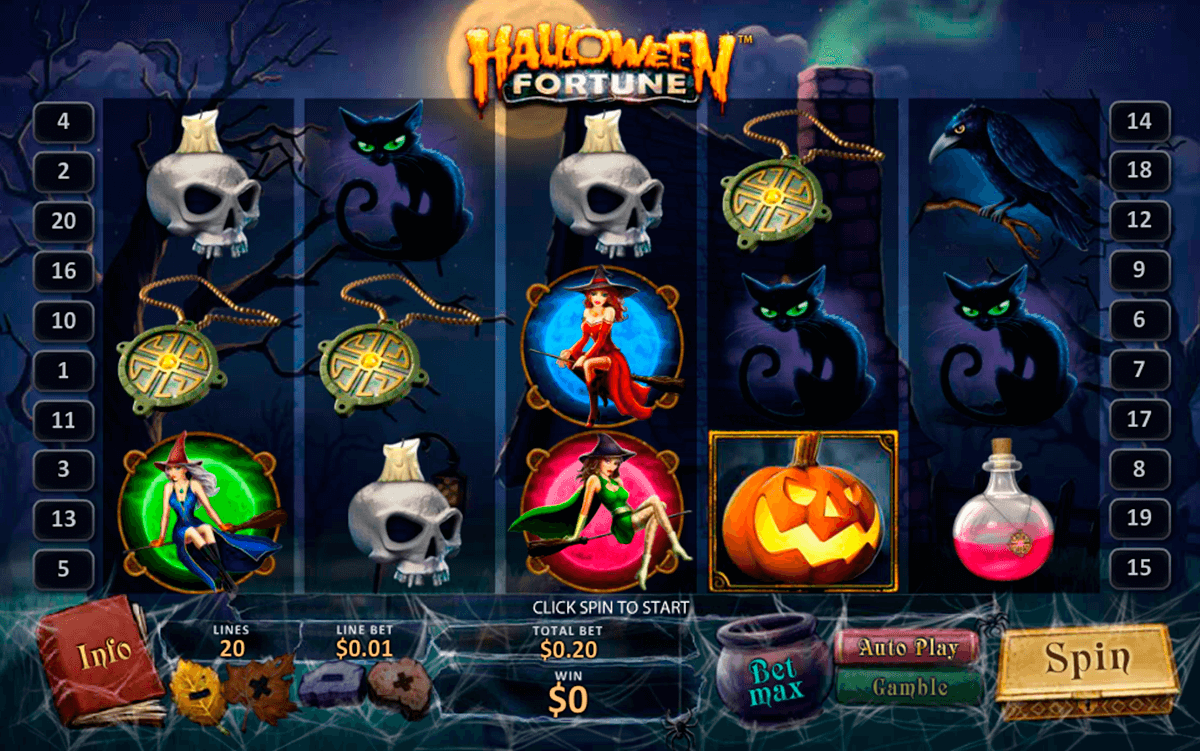 halloween fortune playtech slot machine