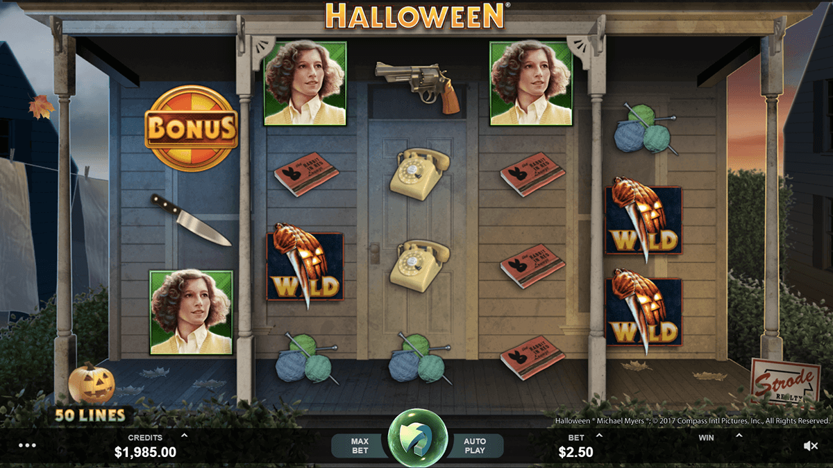 halloween microgaming slot machine
