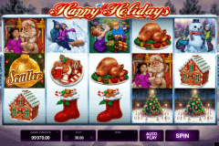 happy holidays microgaming slot machine