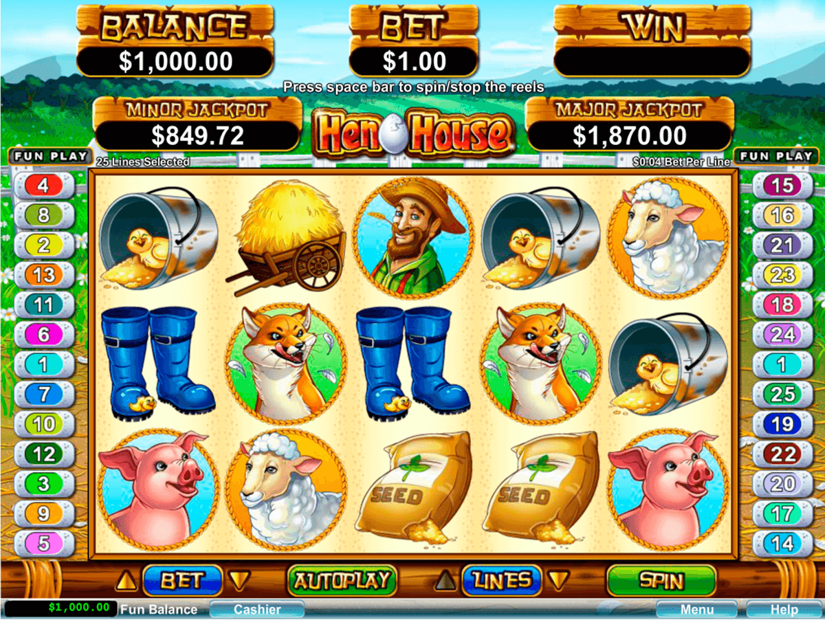 hen house rtg slot machine