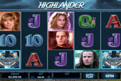 highlander microgaming slot machine