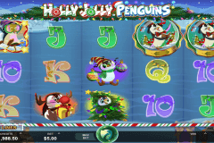 holly jolly penguins microgaming slot machine