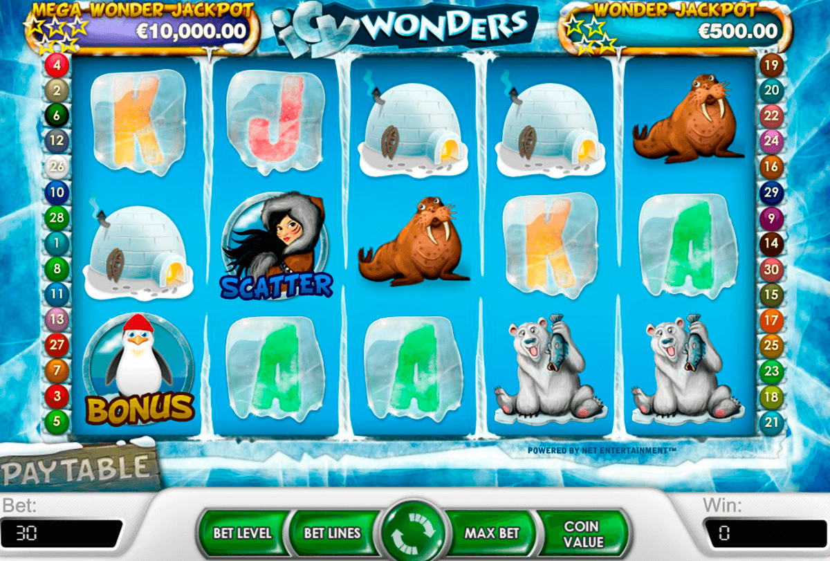 icy wonders netent slot machine