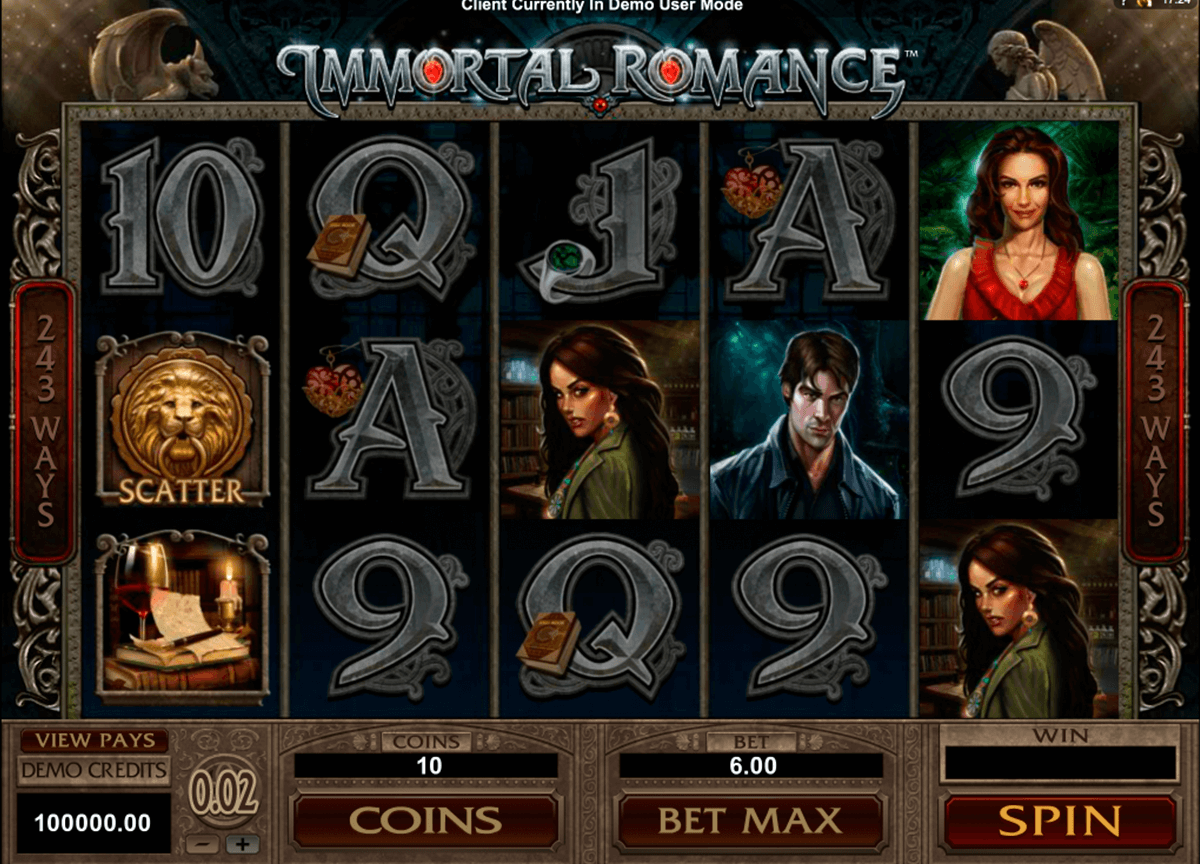 Immortal Romance Slot Uk