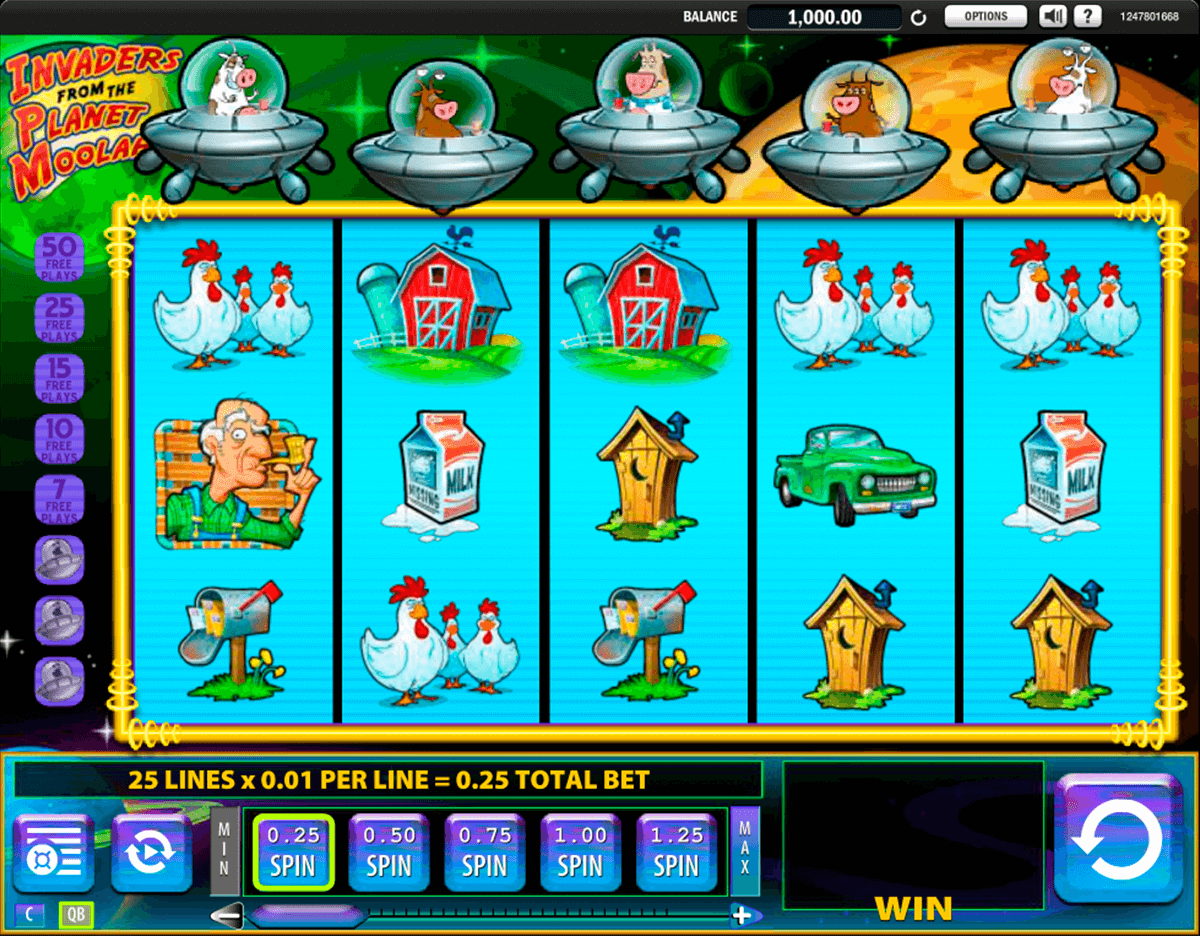 invaders from the planet moolah wms slot machine